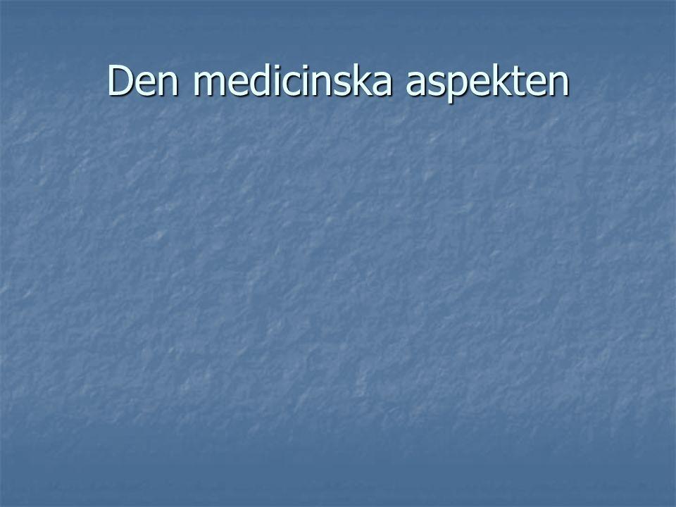 Medicinsk aspekt Medicinsk aspekt Psykologisk och neuropsykologisk aspekt Psykologisk och neuropsykologisk aspekt Social aspekt Social aspekt De senas