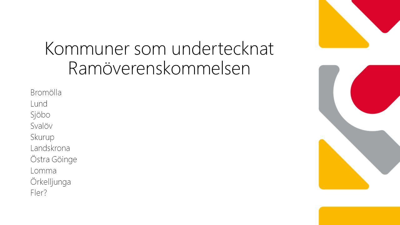 Bromölla Lund Sjöbo Svalöv Skurup Landskrona Östra Göinge Lomma Örkelljunga Fler.