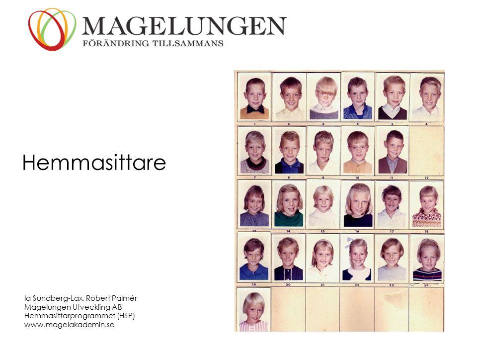 Hemmasittare Ia Sundberg-Lax, Robert Palmér Magelungen Utveckling AB Hemmasittarprogrammet (HSP) www.magelakademin.se
