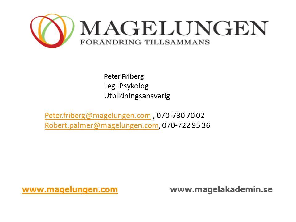 www.magelungen.comwww.magelungen.comwww.magelakademin.se Peter Friberg Leg.