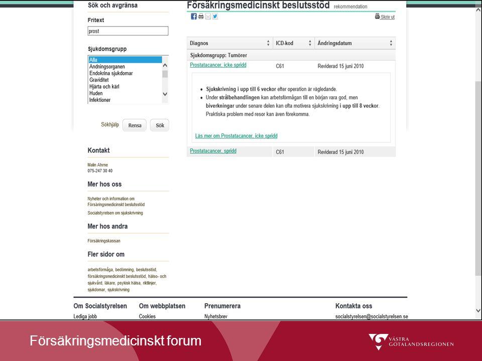 Försäkringsmedicinskt forum