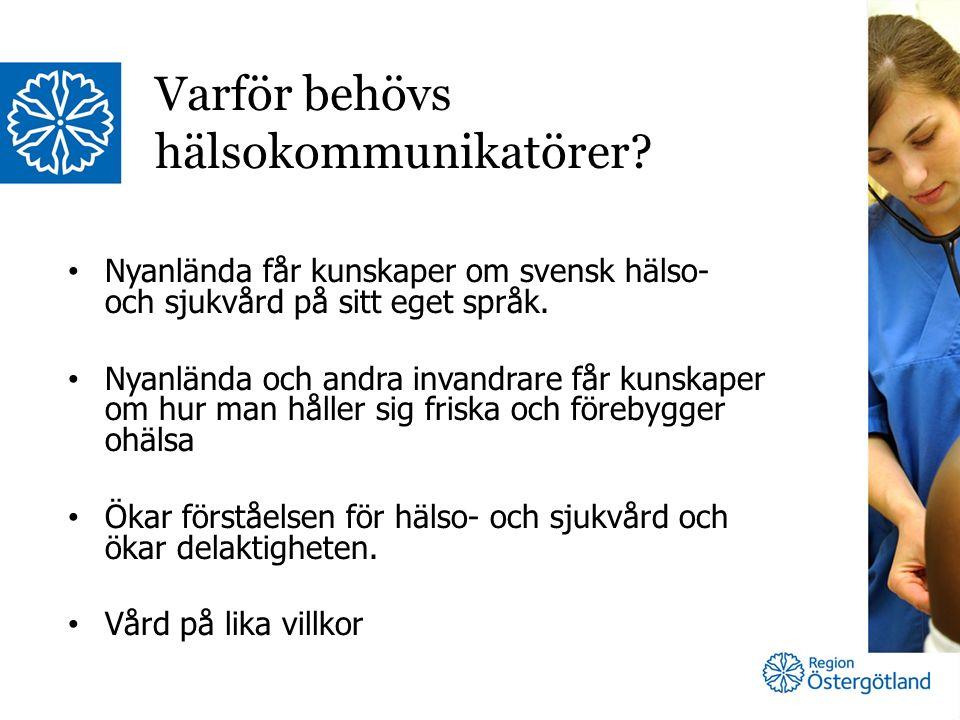 Nyanlända får kunskaper om svensk hälso- och sjukvård på sitt eget språk.