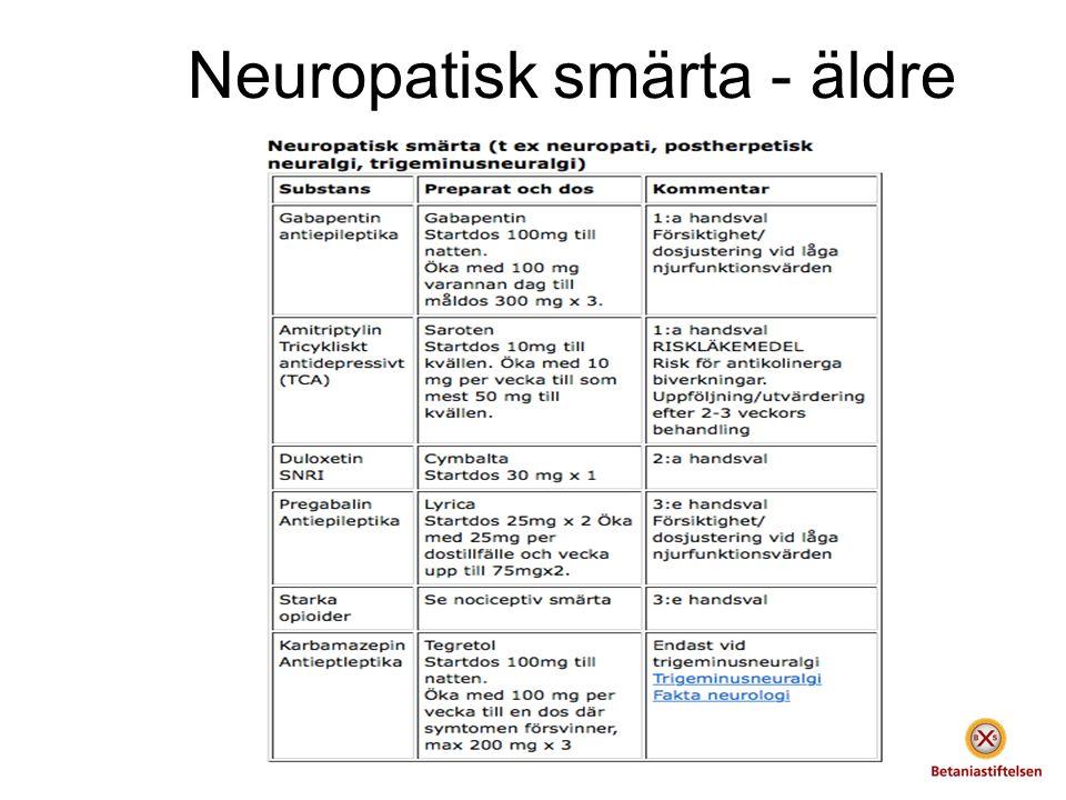 Neuropatisk smärta - äldre
