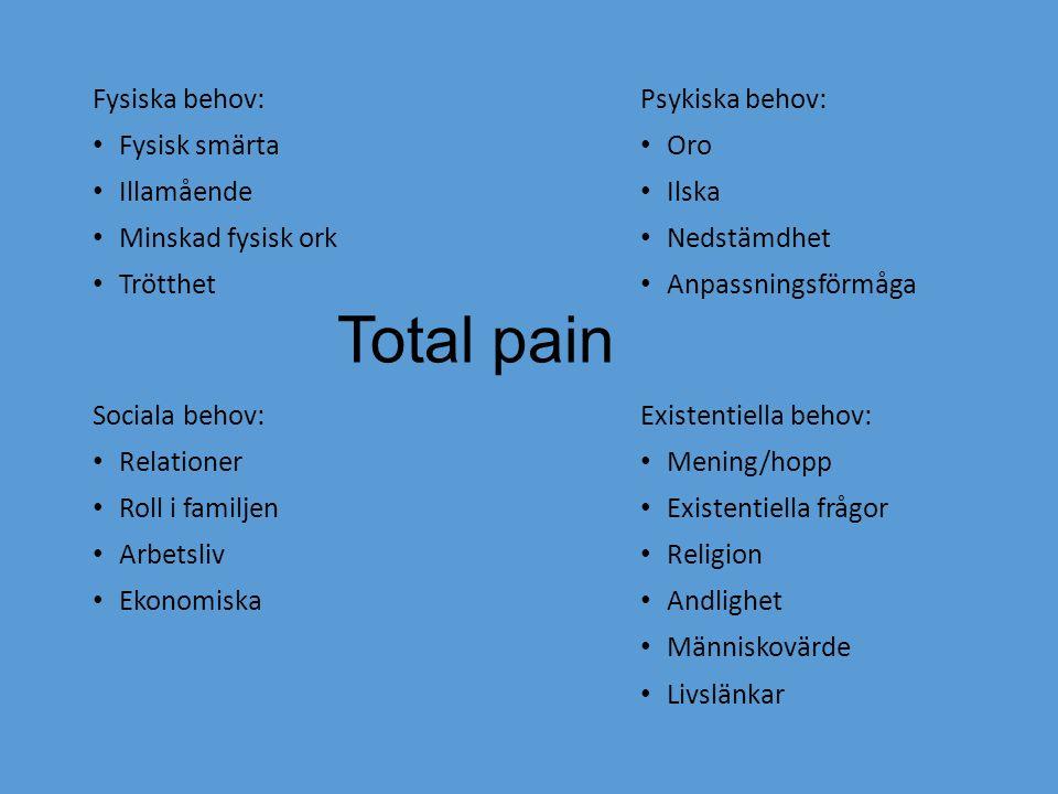 Nociceptiv smärta – måttlig - äldre Panodil 1g x 3-4 1:a handsval Om Waranbehandling extrakontroll av INR vid in eller utsättning Ompröva indikation löpande
