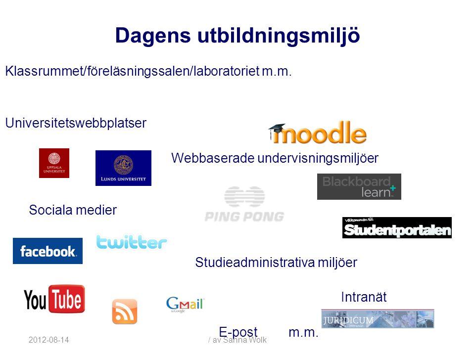2012-08-14/ av Sanna Wolk Problemområden: - Rätten till undervisningsmaterialet - Studenters inspelning av föreläsningar - Användning av upphovsrättsligt material i undervisningen Upphovsrätt & e-lärande