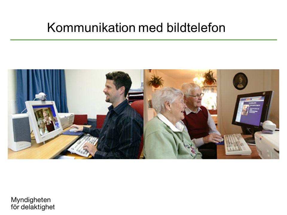 Kommunikation med bildtelefon