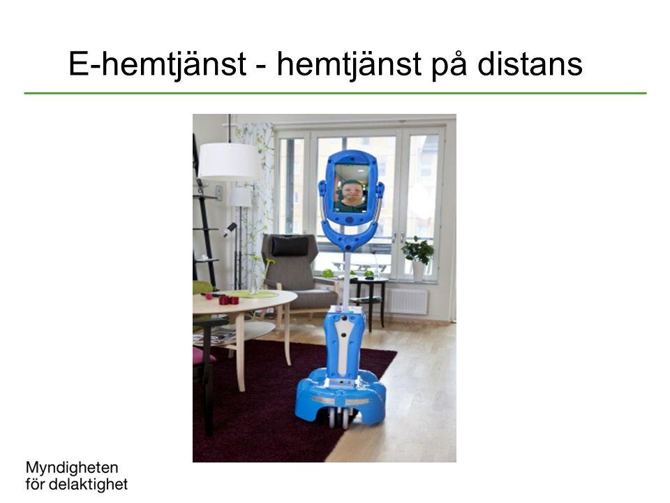 E-hemtjänst - hemtjänst på distans