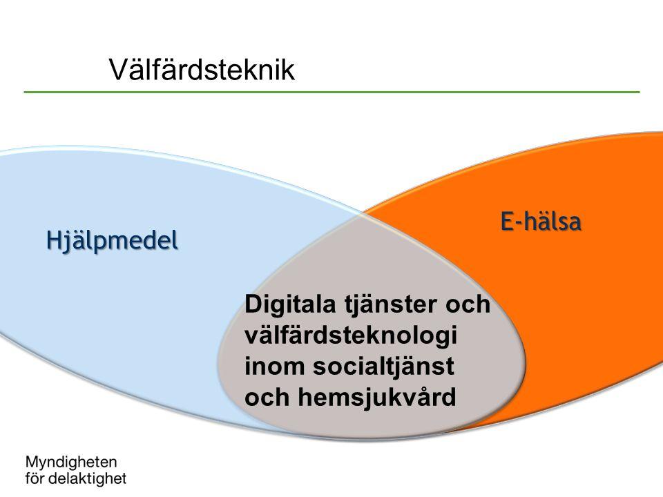 Digitala tjänster och välfärdsteknologi inom socialtjänst och hemsjukvård E-hälsa Hjälpmedel Välfärdsteknik
