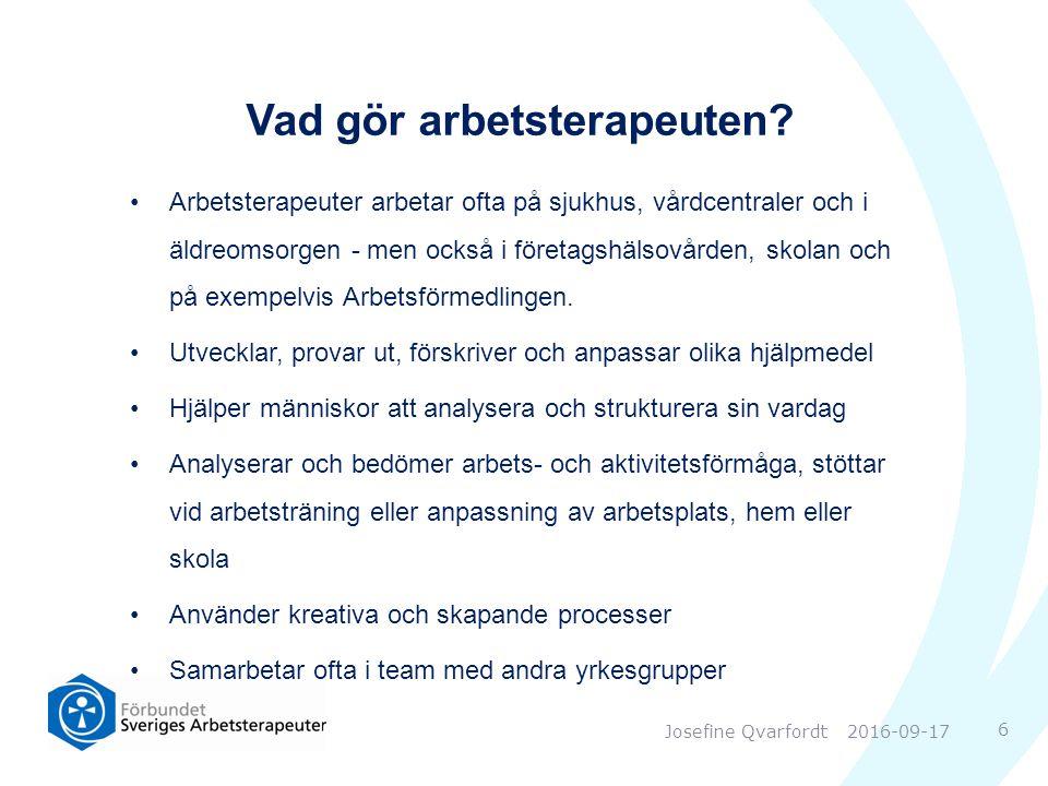 Vilka är Sveriges Arbetsterapeuter.