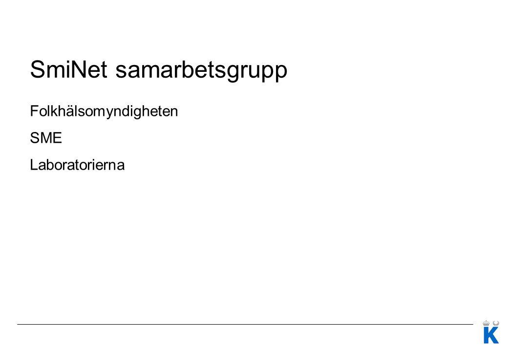 SmiNet samarbetsgrupp Folkhälsomyndigheten SME Laboratorierna