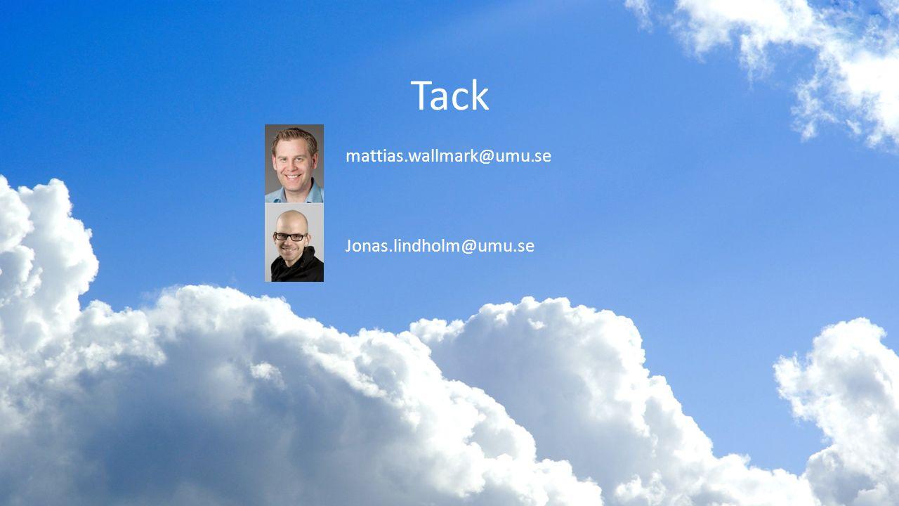Tack mattias.wallmark@umu.se Jonas.lindholm@umu.se