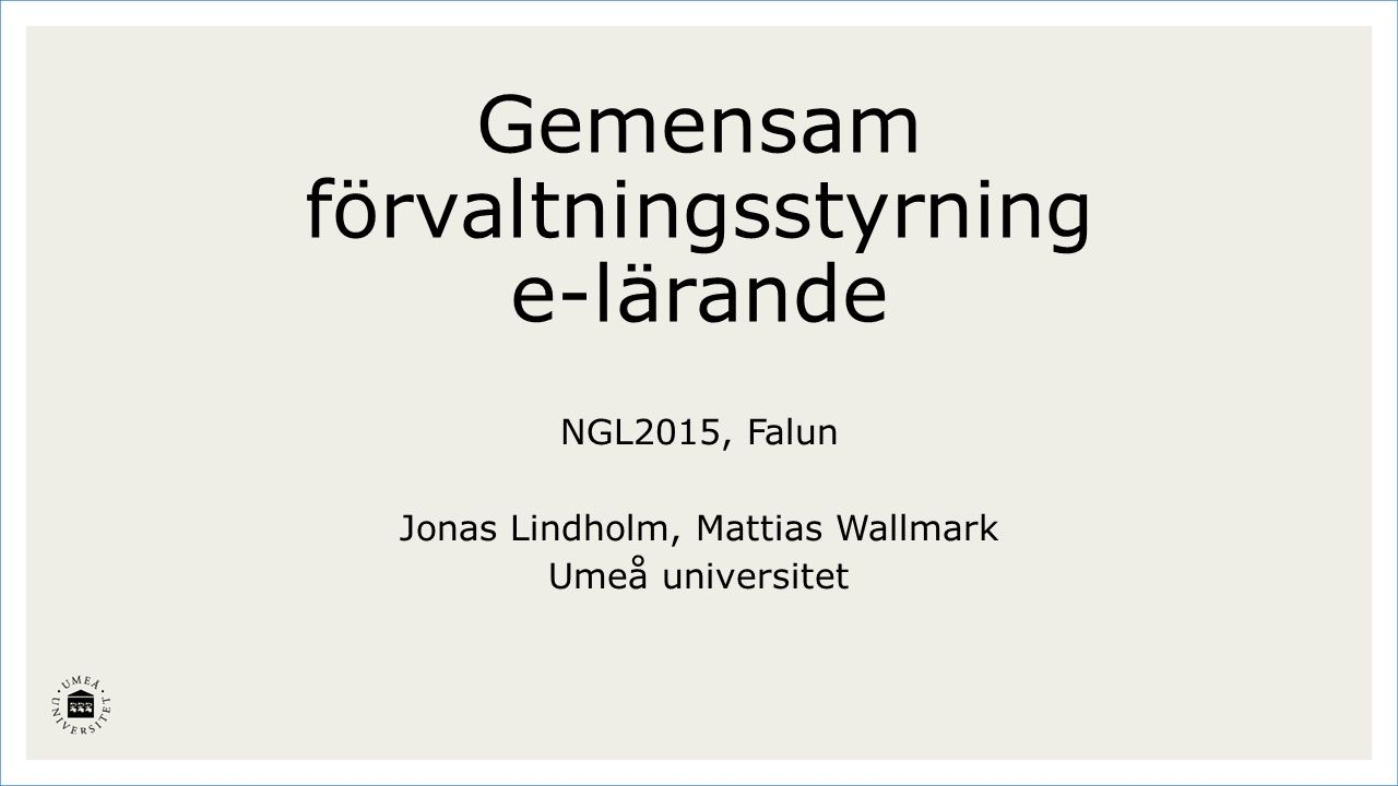 1965 invigdes Sveriges femte universitet av kung Gustaf VI Adolf.