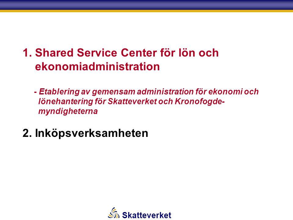 Skatteverket   Beslut 2003-10-30 att inrätta en ny skattemyndighet – Skatteverket (SKV) (Enl.