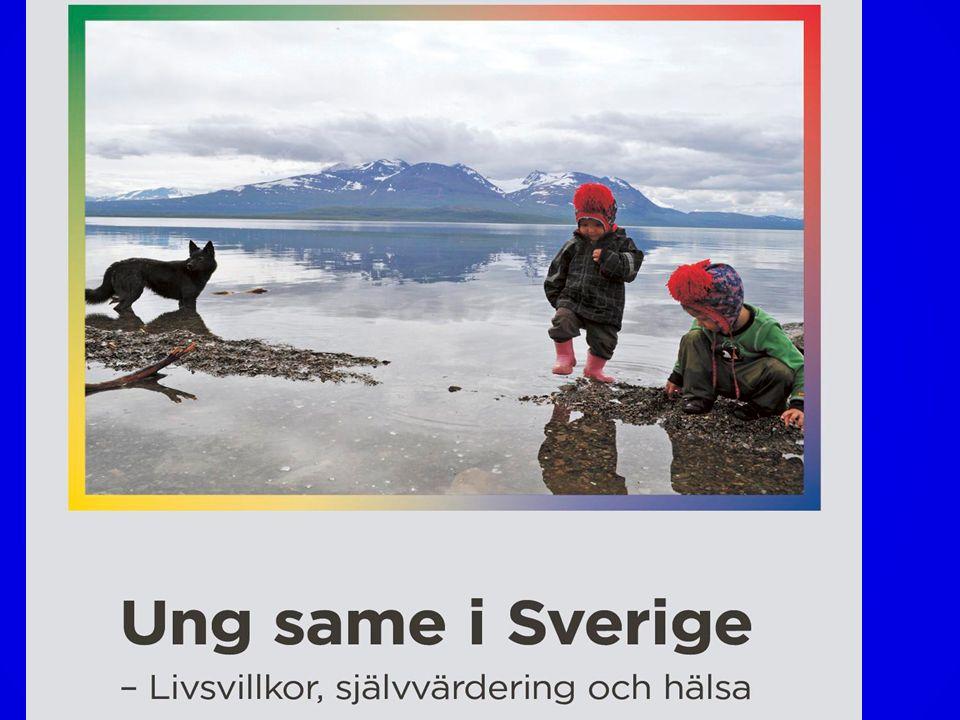 Samiska skolbarn raporterar framförallt sämre trivsel och fungerande I skolan Men också; att de hade mindre pengar att röra sig med jämfört med kompisar (liten skillnad) Relationen till föräldrarna skattades lägre bl a. hur mycket tid föräldrarna hade (liten skillnad) Leg psykolog Lotta Omma