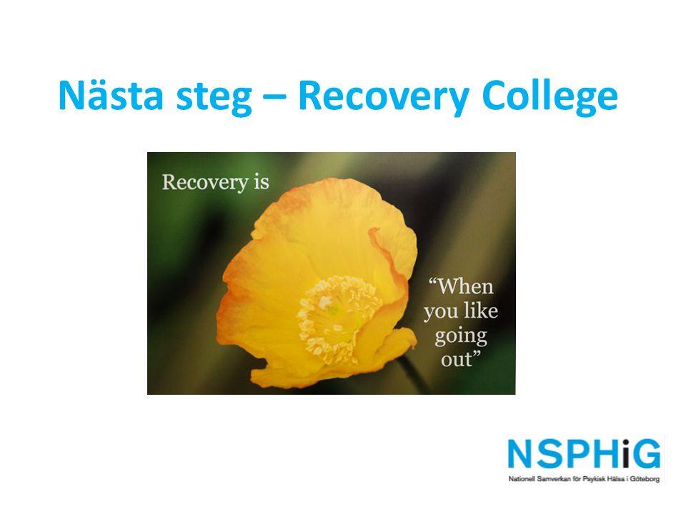 Nästa steg – Recovery College