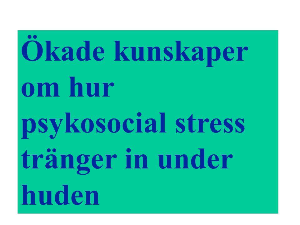 Ökade kunskaper om hur psykosocial stress tränger in under huden