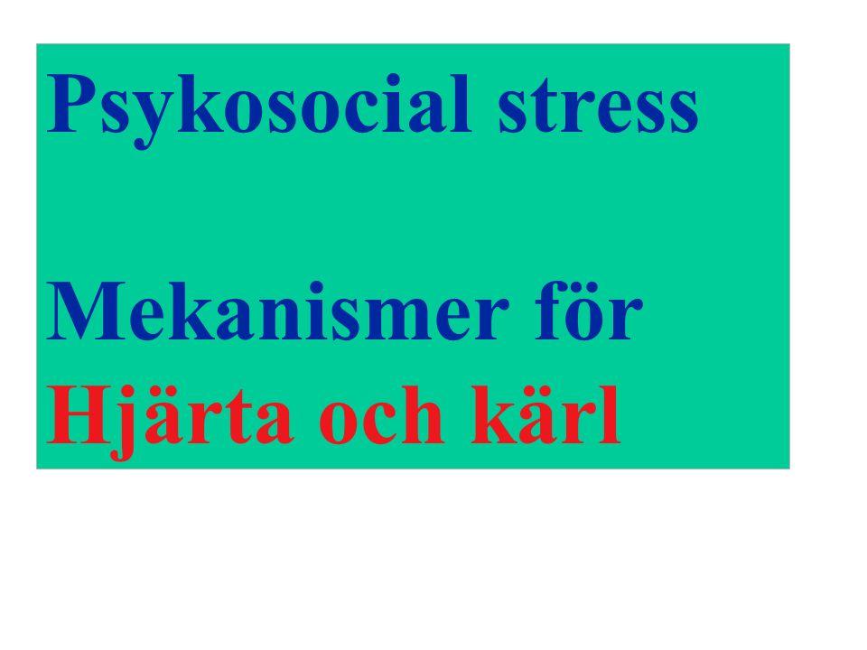 Psykosocial stress Mekanismer för Hjärta och kärl