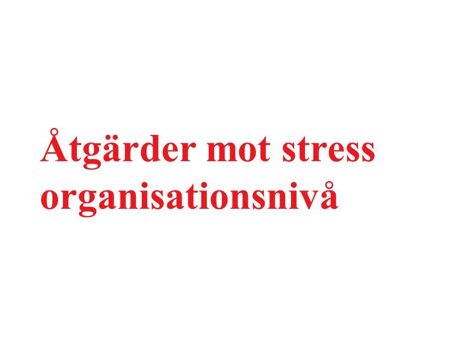 Åtgärder mot stress organisationsnivå