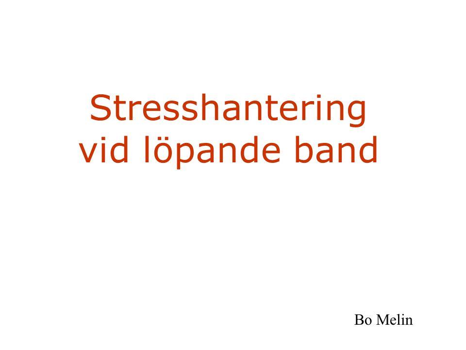 Stresshantering vid löpande band Bo Melin