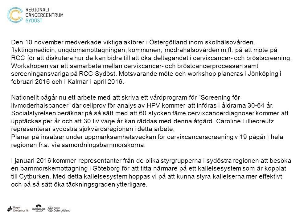 Den 10 november medverkade viktiga aktörer i Östergötland inom skolhälsovården, flyktingmedicin, ungdomsmottagningen, kommunen, mödrahälsovården m.fl.