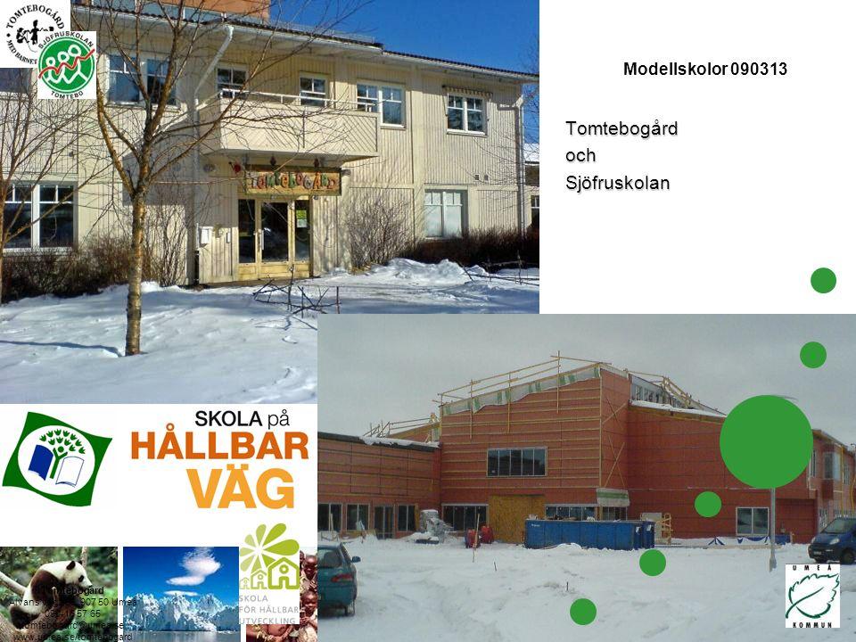 Tomtebogård Älvans väg 266, 907 50 Umeå 090-16 57 65 tomtebogard@umea.se www.umea.se/tomtebogard Modellskolor 090313TomtebogårdochSjöfruskolan