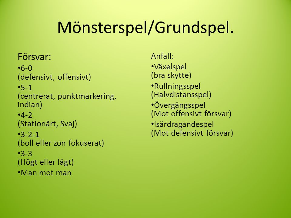 Mönsterspel/Grundspel.