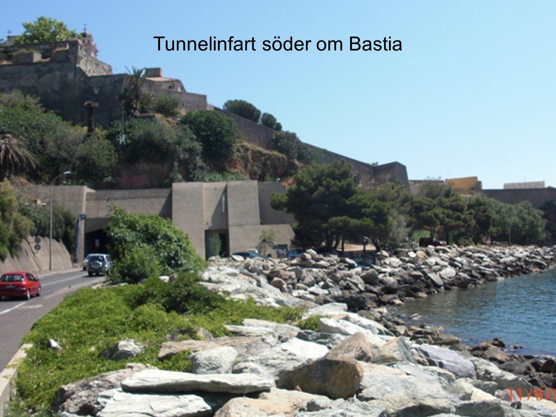 Tunnelinfart söder om Bastia