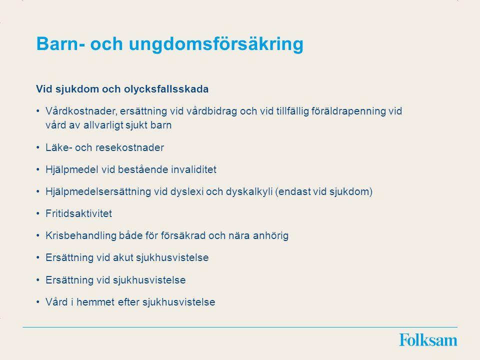 Innehållsyta Rubrikyta Medicinsk invaliditet – Ersättning* Inv.