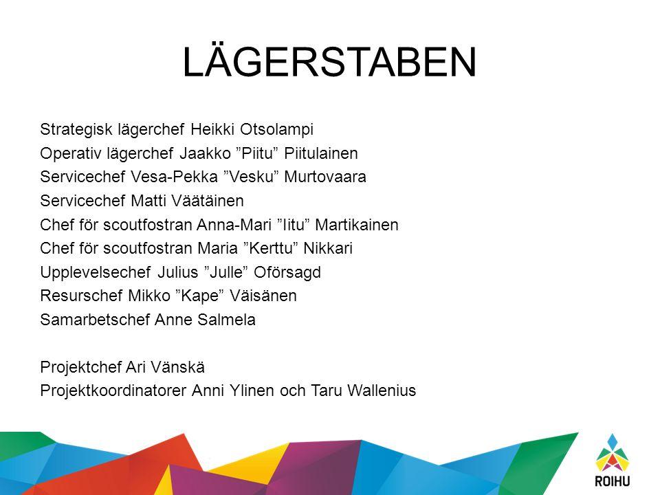 """LÄGERSTABEN Strategisk lägerchef Heikki Otsolampi Operativ lägerchef Jaakko """"Piitu"""" Piitulainen Servicechef Vesa-Pekka """"Vesku"""" Murtovaara Servicechef"""