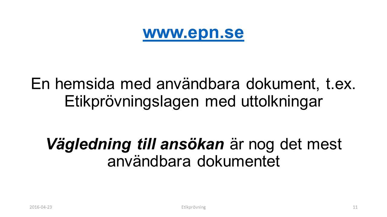 www.epn.se En hemsida med användbara dokument, t.ex.