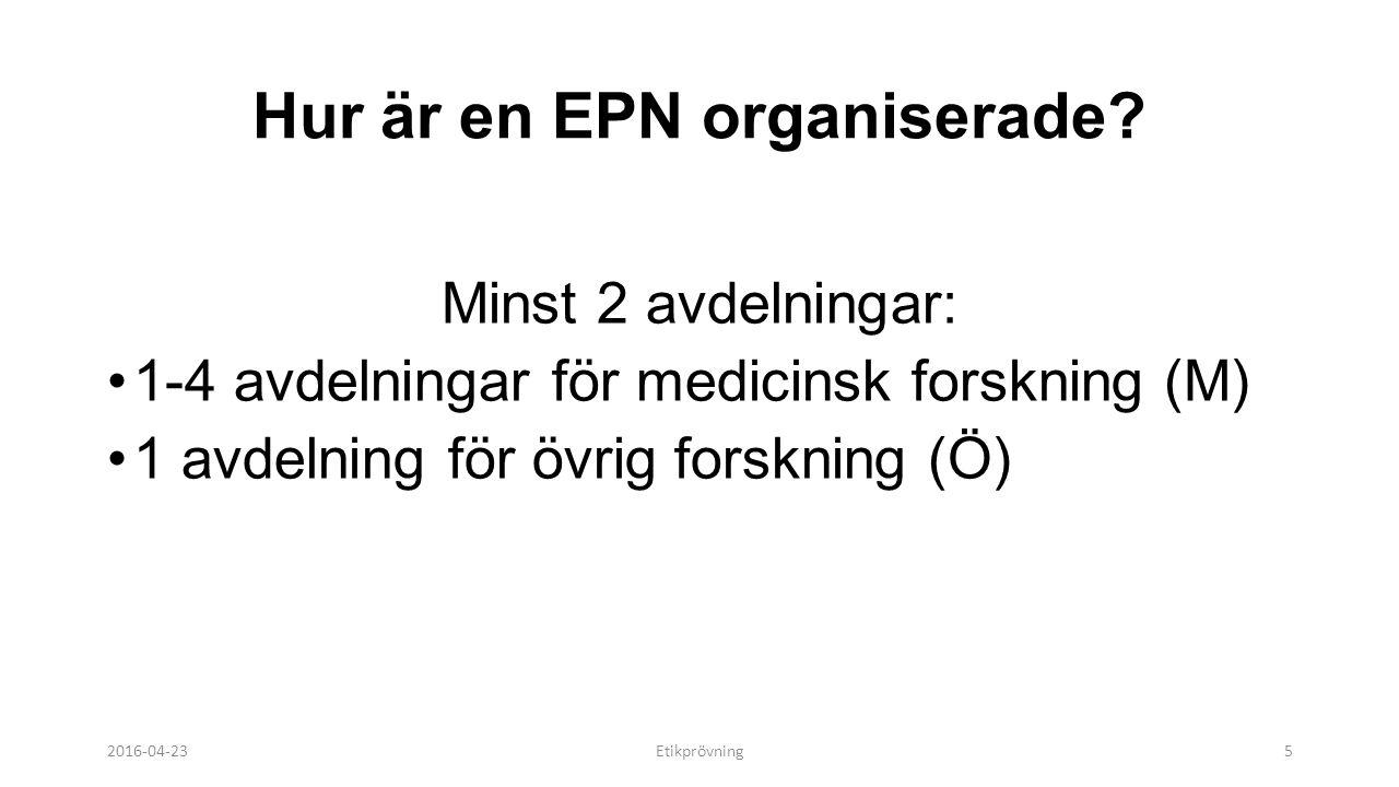 Hur är en EPN organiserade.