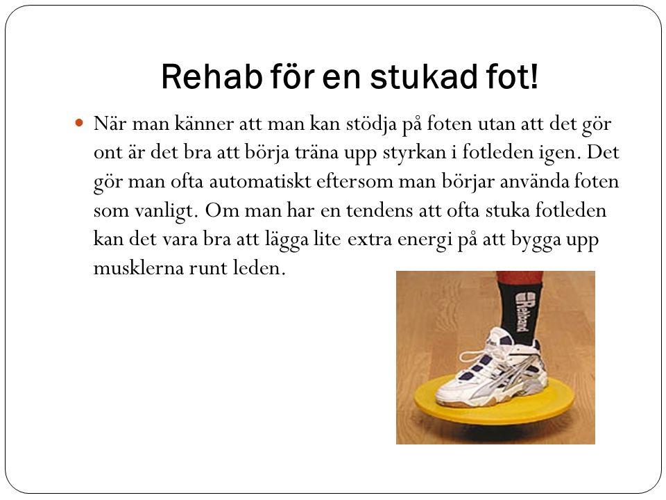 Rehab för en stukad fot.