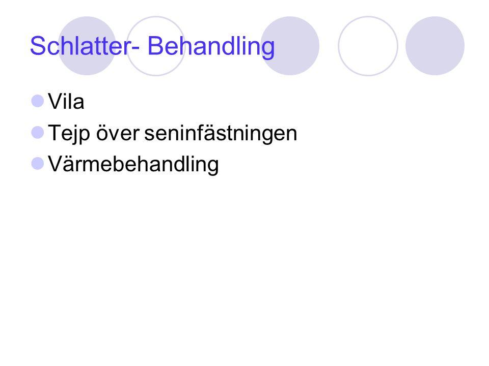Schlatter- Behandling Vila Tejp över seninfästningen Värmebehandling