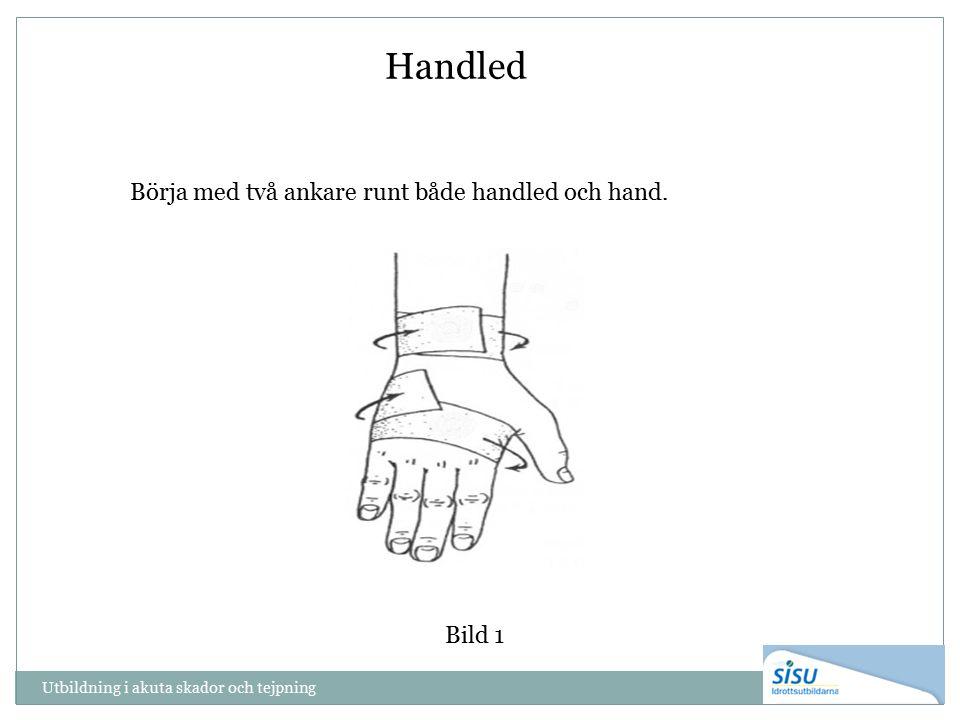 Handled Bild 1 Börja med två ankare runt både handled och hand.