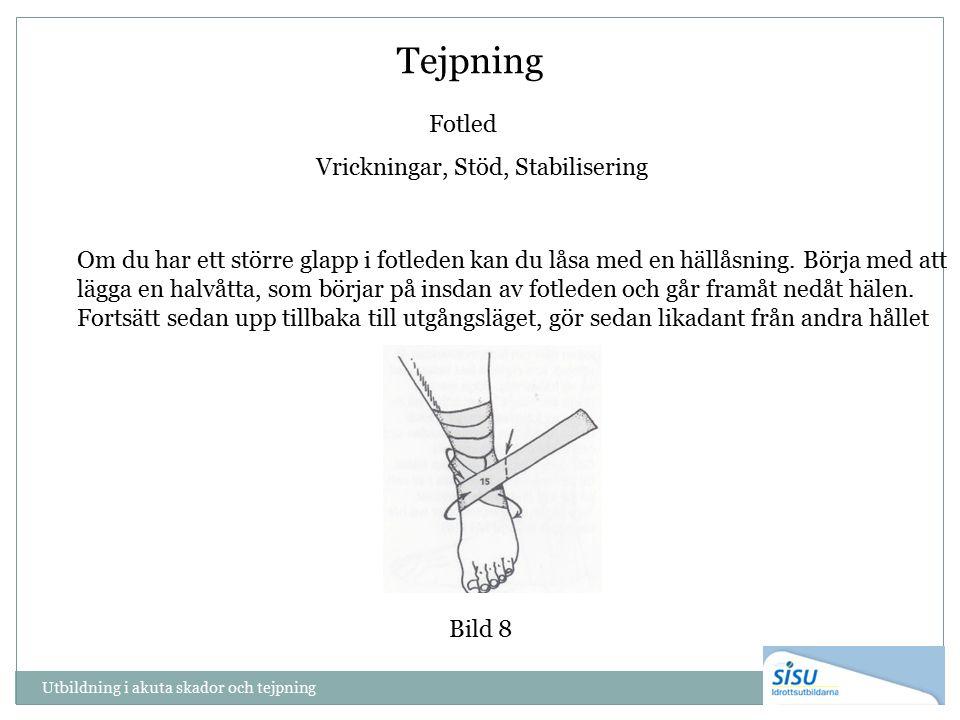 Tejpning Fotled Vrickningar, Stöd, Stabilisering Om du har ett större glapp i fotleden kan du låsa med en hällåsning.