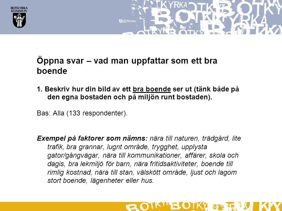 Öppna svar – det bästa med att bo i Botkyrka kommun 2.