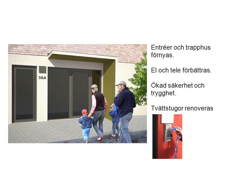 Maratonvägen Hästen Etapp 1 Entréer och trapphus förnyas.