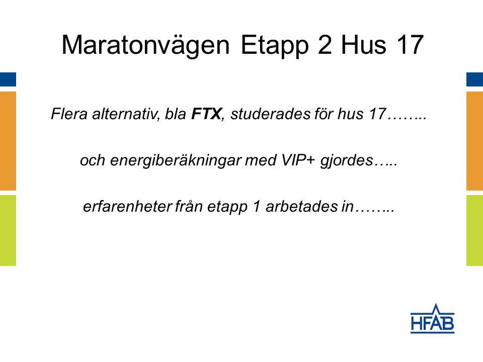 Flera alternativ, bla FTX, studerades för hus 17……..