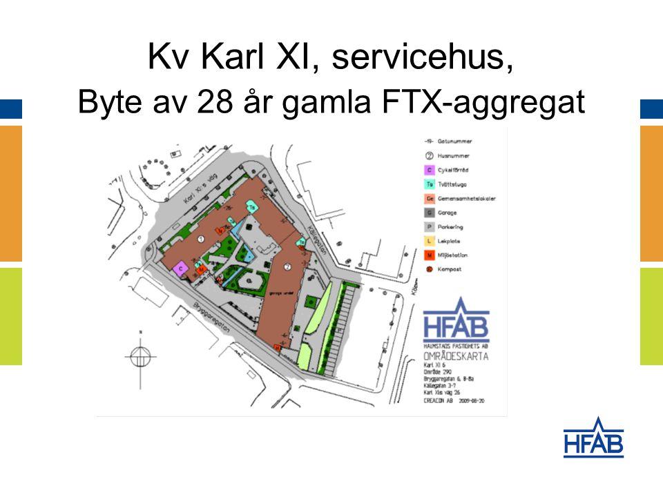 Kv Karl XI, servicehus, Byte av 28 år gamla FTX-aggregat