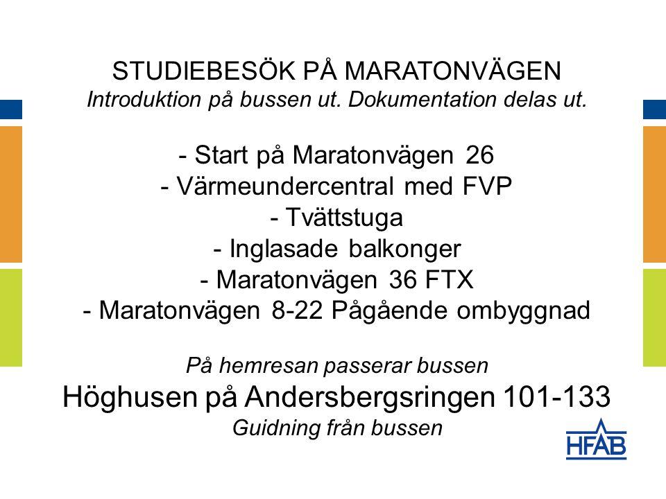 STUDIEBESÖK PÅ MARATONVÄGEN Introduktion på bussen ut.