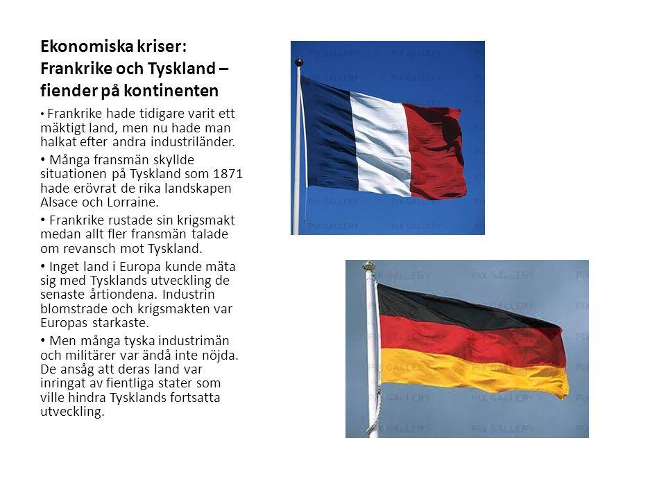 Tyskland och Storbritannien – konkurrenter om världshandeln Den tyske kejsar Wilhelm II och andra ledande tyskar ville att Tyskland skulle bli en världsmakt.