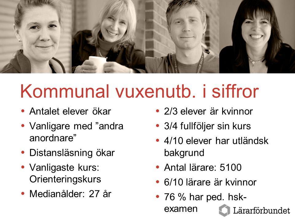 Läget i svensk vuxenutbildning Kommunal vuxenutb.
