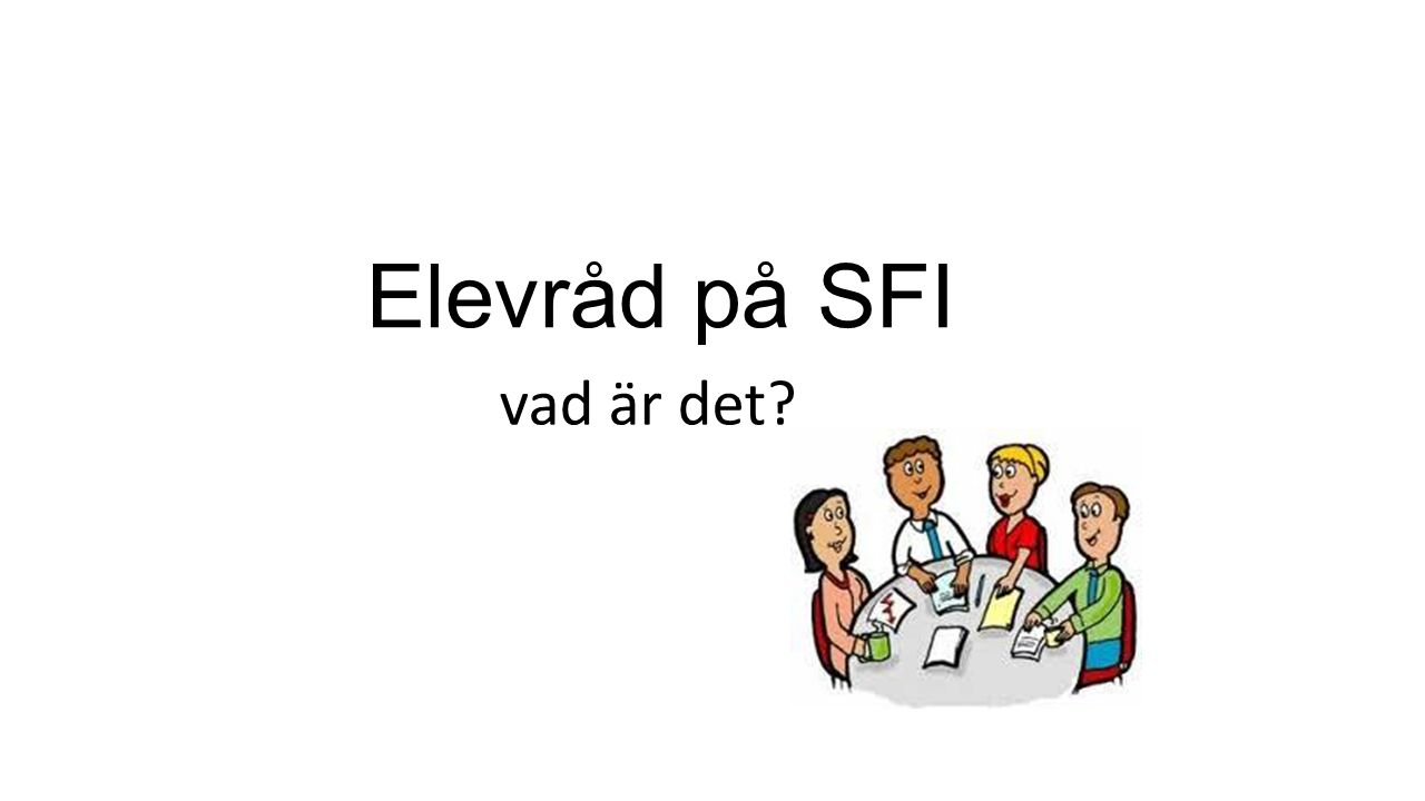 Elevråd på SFI vad är det
