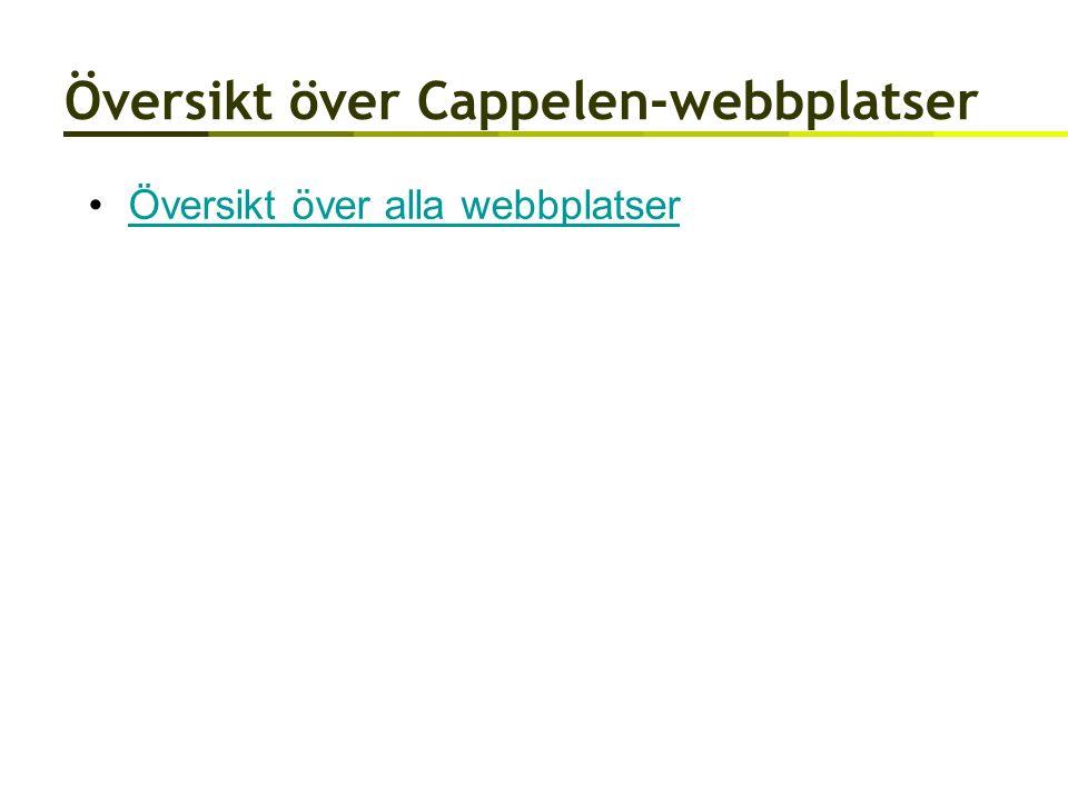 Översikt över Cappelen-webbplatser Översikt över alla webbplatser