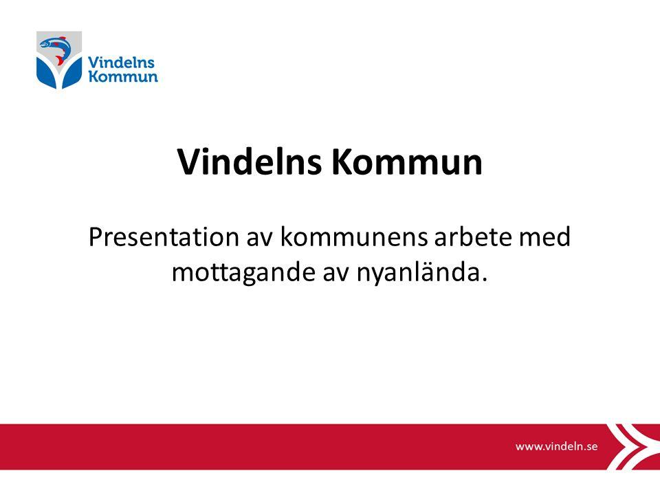 Vindelns Kommun Presentation av kommunens arbete med mottagande av nyanlända.