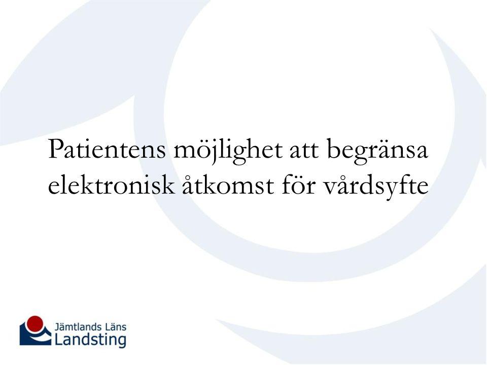 4 § Personuppgifter, som dokumenterats för vårdsyfte en vårdenhet får inte göras tillgängliga genom elektronisk åtkomst för den som arbetar vid en annan vårdenhet, om patienten motsätter sig det.