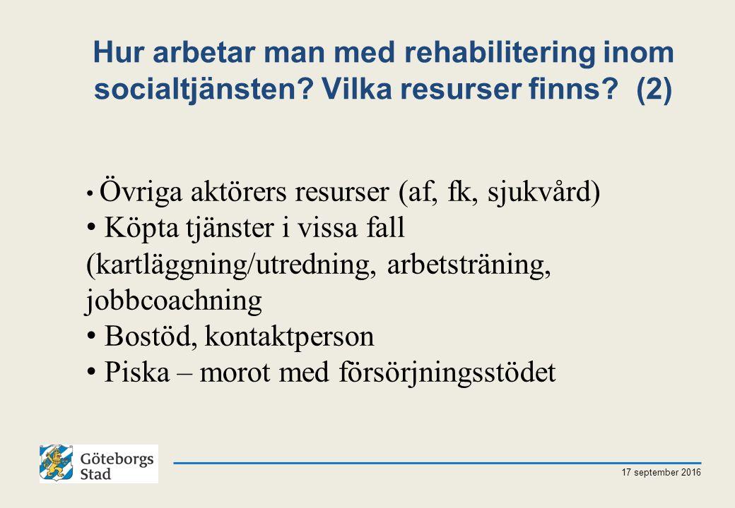 Hur arbetar man med rehabilitering inom socialtjänsten.