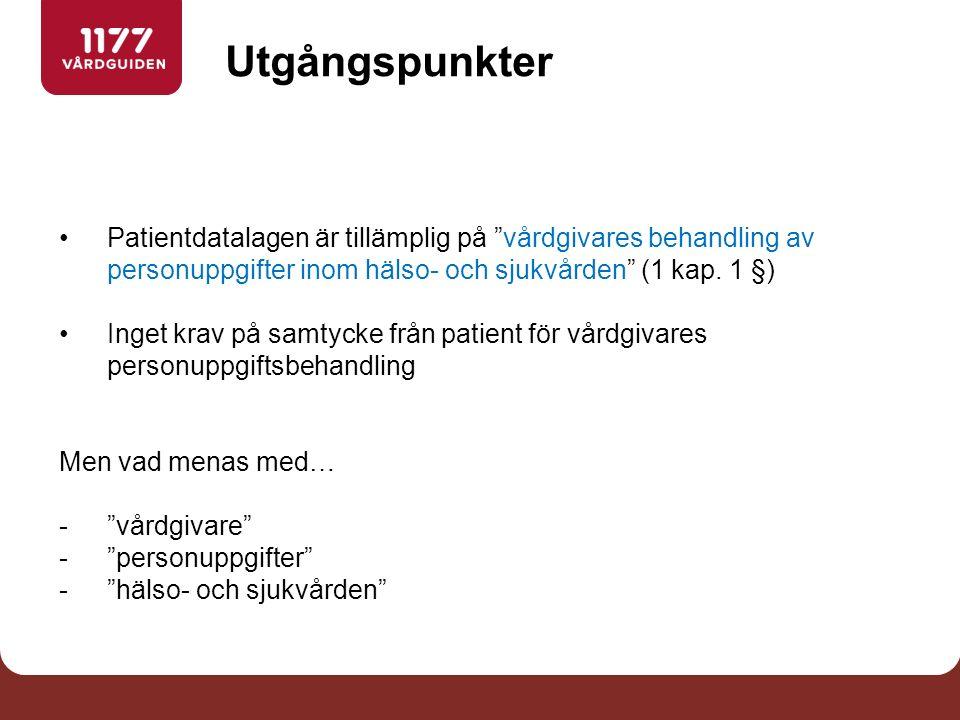 För vilka ändamål får en vårdgivare behandla personuppgifter enligt PDL 2 kap.