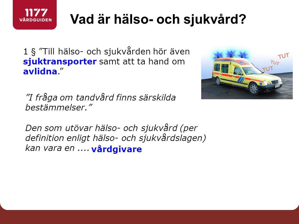 Är egenvård hälso- och sjukvård.Socialstyrelsens föreskrifter om egenvård (SOSFS 2009:6), 2 kap.