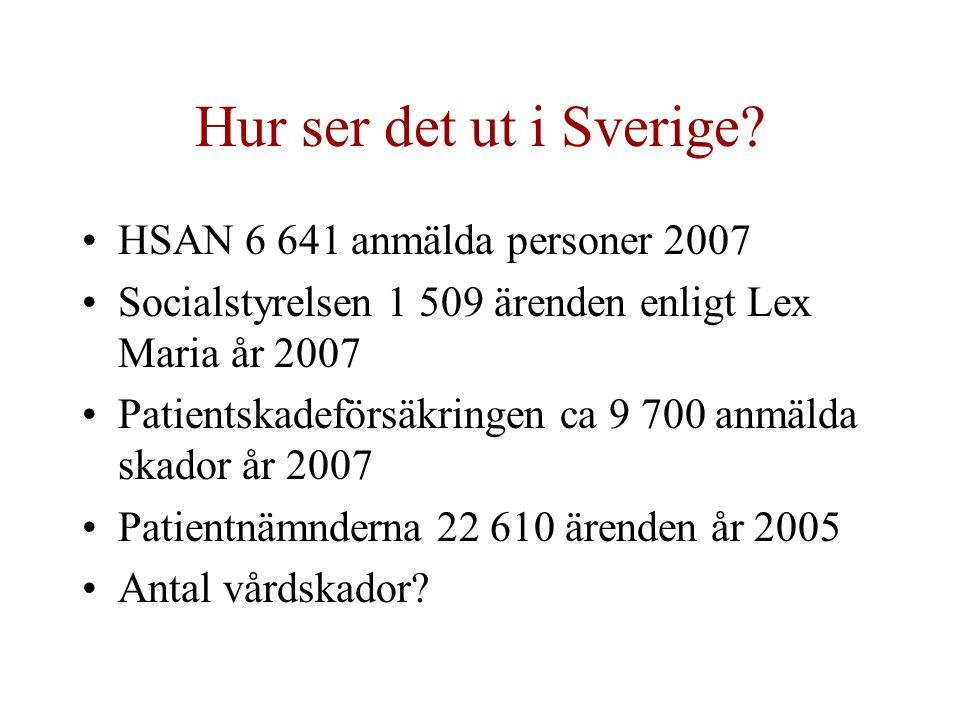 Hur ser det ut i Sverige.